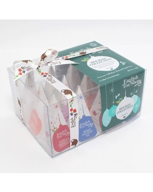 English Tea Shop Green Baubles Prism 12 Pack
