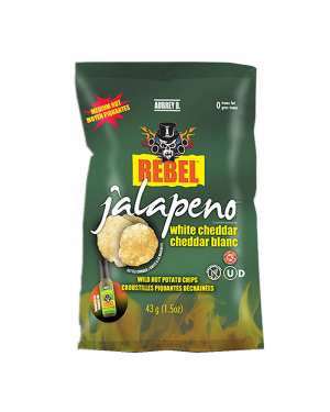 Aubrey D Jalapeno White Cheddar Potato Chips 43g
