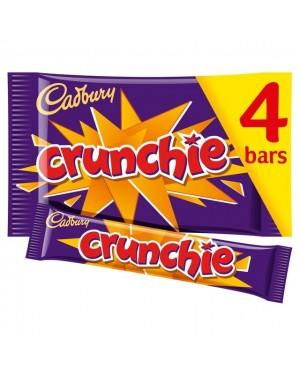 Cadbury Crunchie 4X Barrette Di Cioccolato Al Latte E Caramello Croccante