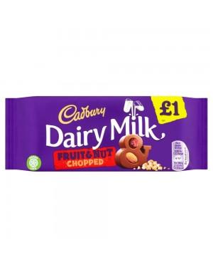 Cadbury Fruit E Nut 95G Barretta Di Cioccolato Al Latte Frutta Secca E Nocciole