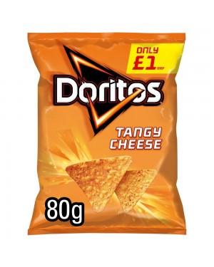 Doritos Tangy Cheese 80G Patatine Al Mais Con Formaggio Piccante