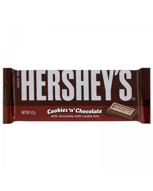 Hersheys Cookies And Choccolate Bar Barretta Di Cioccolato Al Latte Con Biscotti