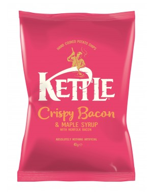 Kettle Chips Bacon And Maple Patatine Al Bacon E Sciroppo D'Acero 40G