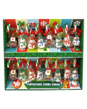 Let it Snow Candy Canes Tree Decorations 16 Pack