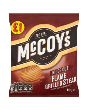 Mccoys flamegrill 70g, patatine al gusto di bistecca alla brace 70g