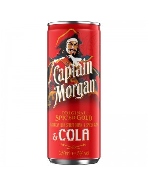 CAPTAIN MORGAN RUM E COLA 250 ML