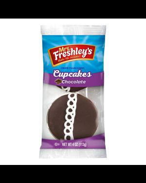 Mrs Freshleys 2X Cupcake Al Cioccolato Ripieno Di Mousse Alla Vaniglia