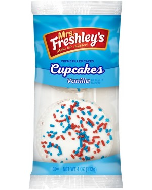 Mrs Freshleys 2X Cupcake Alla Vaniglia Ricoperti Di Glassa Di Zucchero