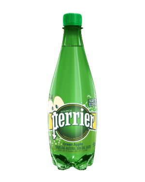 Perrier Green Apple Acqua Francese Naturalmente Frizzante  Gusto Mela Verde 500Ml
