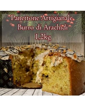 Panettone Artigianale Burro di Arachidi & Cioccolato 1.200 Gr Senza Canditi
