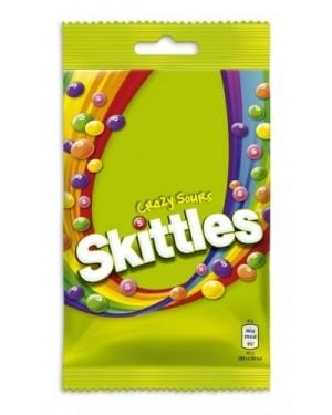 Skittles Crazy Sour Caramelle Morbide Alla Frutta Gusto Aspro 125G