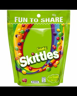 Skittles Crazy Sour Caramelle Morbide Alla Frutta Gusto Aspro 196G