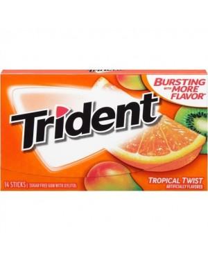 Trident Tropical Gomme Da Masticare Gusto Frutti Tropicali
