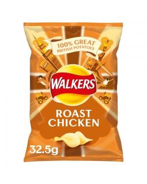 Walkers Crisp Roast Chicken 32,5 Patatine Al Gusto Di Pollo Arrosto