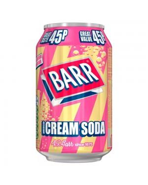 Barr Cream Soda 330Ml Bevanda Frizzante Gusto Vaniglia