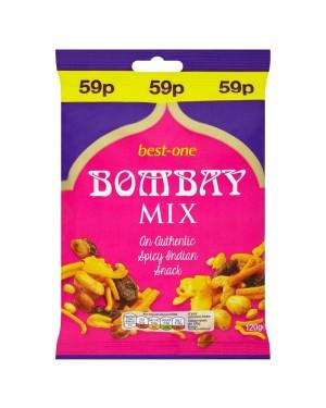 Bestone Bombay Mix 120G Snack Con Arachidi, Legumi, Uvetta E Cocco, Leggermente Speziato