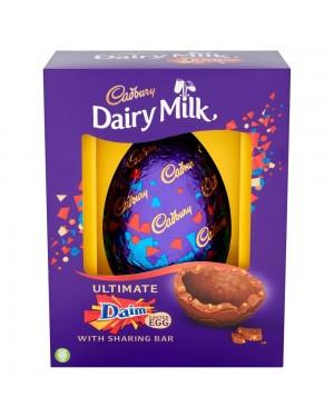 Cadbury Daim Large Egg 570G Uovo Di Pasqua Con Mandorle E Caramello Croccante