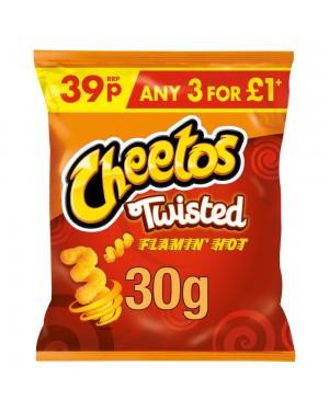 Cheetos twist flaming hot ricci di mais al formaggio piccante 30g