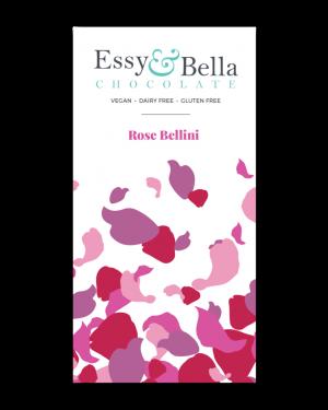 Essy & Bella Dairy & Gluten Free Rose Bellini Chocolate Bar 100g