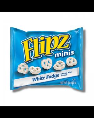 Flipz White Choccolate Small Bag Pretzel Salati Ricoperti Di Cioccolato Bianco Monodose