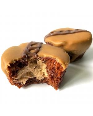 Mrs Freshley 2X Cupcake Al Cioccolato E Burro Di Arachidi Ripieni Di Mousse Al Burro Di Arachidi