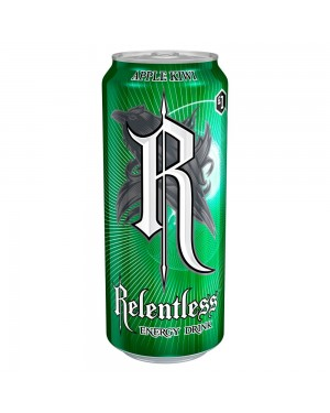 Relentless Apple & Kiwi Energy Drink Can