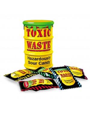Toxic Waste Yellow Drum Barilotto Giallo Ripieno Di Tante Caramelline Super Aspre ( Le Piu Aspre Al Mondo)