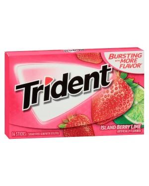 Trident Island Lime Berry Gomem Da Masticare Gusto Fragole E Lime