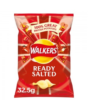 Walkers Crisp Ready Salted 32,5G Patatine Supr Croccanti Salate